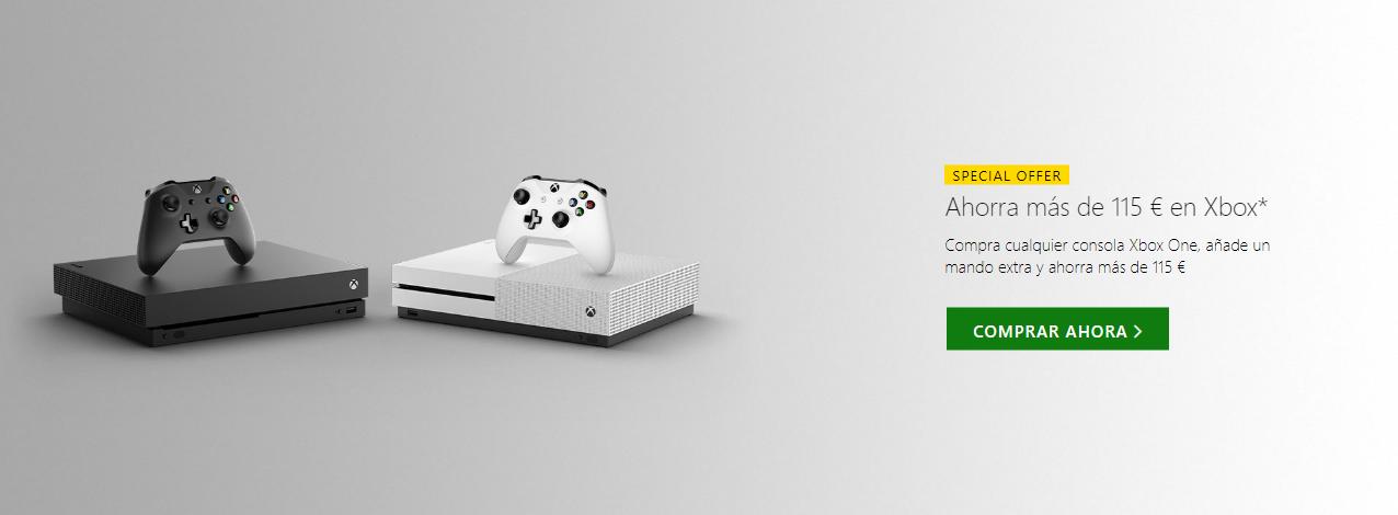 Consigue tu consola Xbox One con mando de regalo y ahorra más de 100€ 2