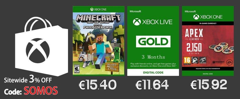 Aprovéchate de estas ofertas en juegos y suscripciones con un descuento adicional gracias a SomosXbox 2