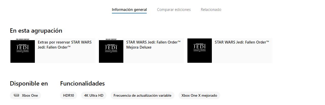 Star Wars: Jedi Fallen Order presenta ediciones y confirma 4K y HDR en Xbox One X 2