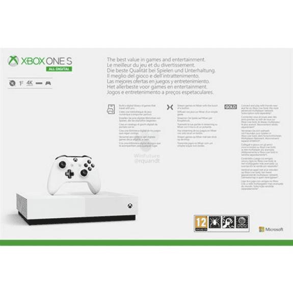 Se descubre la Xbox One S All Digital Edition, su lanzamiento, precio y bundle 4