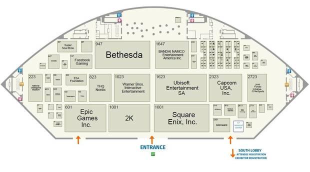 Así queda la distribución de los expositores en el E3 2019 3