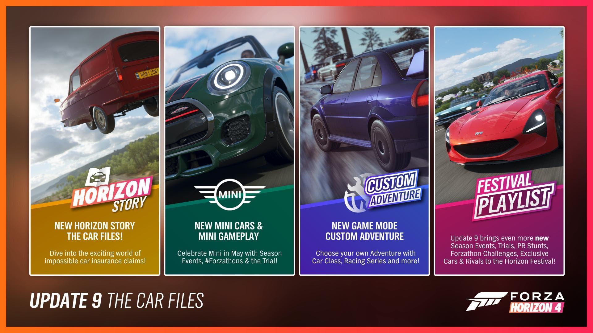 Primeras informaciones sobre contenidos y mejoras para Forza Horizon 4 en su próxima actualización 3
