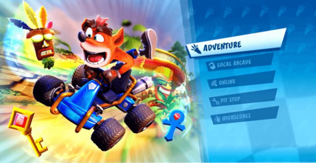 Se muestra el modo aventura de Crash Team Racing Nitro Fueled 2