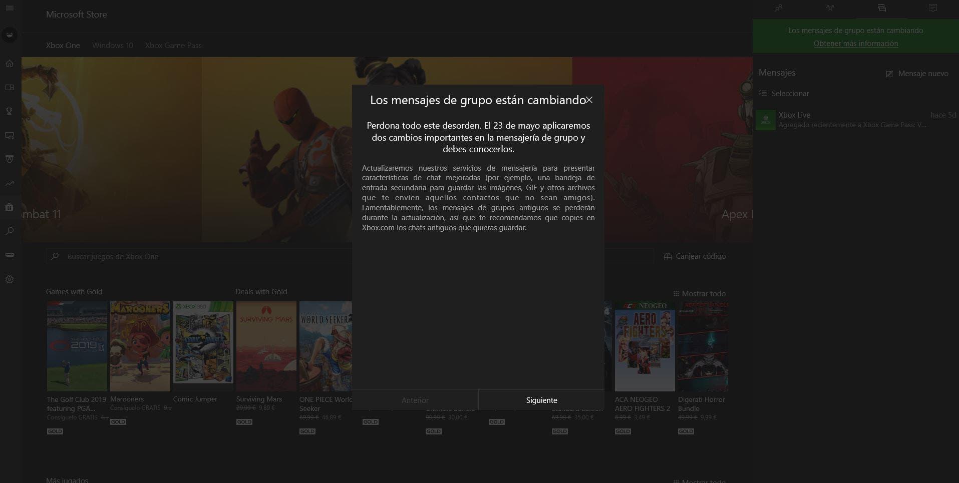 La mensajería de Xbox dará soporte a los GIFs en su próxima actualización 2