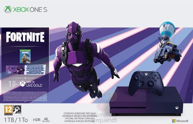 Se filtra el nuevo bundle que lleva una Xbox One S morada y Fortnite 2