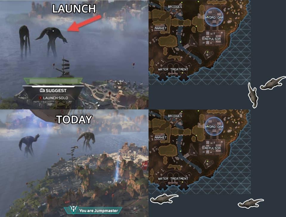 El leviatán se acerca al mapa de Apex Legends 1