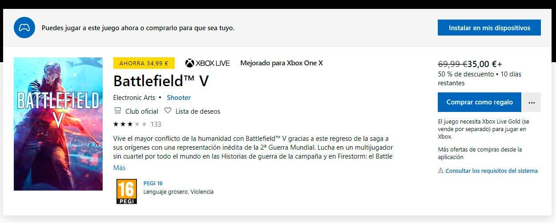 Battlefield V disponible gratis en The Vault, vía EA Access 2