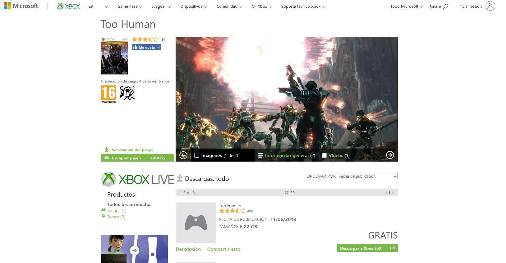 Too Human se encuentra disponible gratis para todos en la Xbox Store 2
