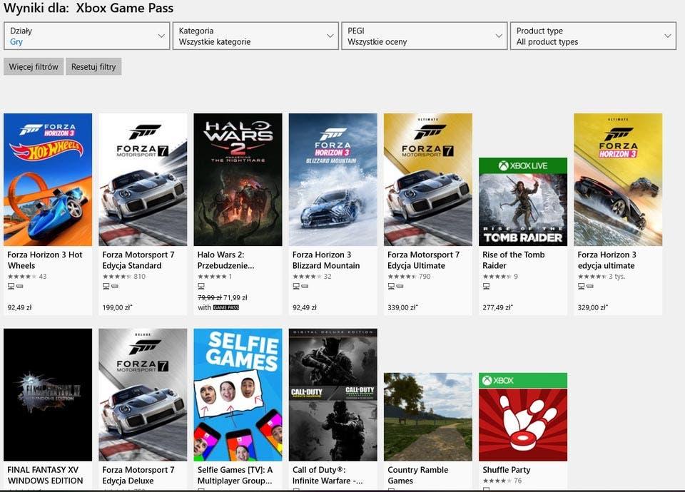una nueva filtración ofrecería nuevos detalles sobre los juegos que incluirá, dondeForza Motorsport 7 y más aparecen listados en Xbox Game Pass en la Microsoft Store.
