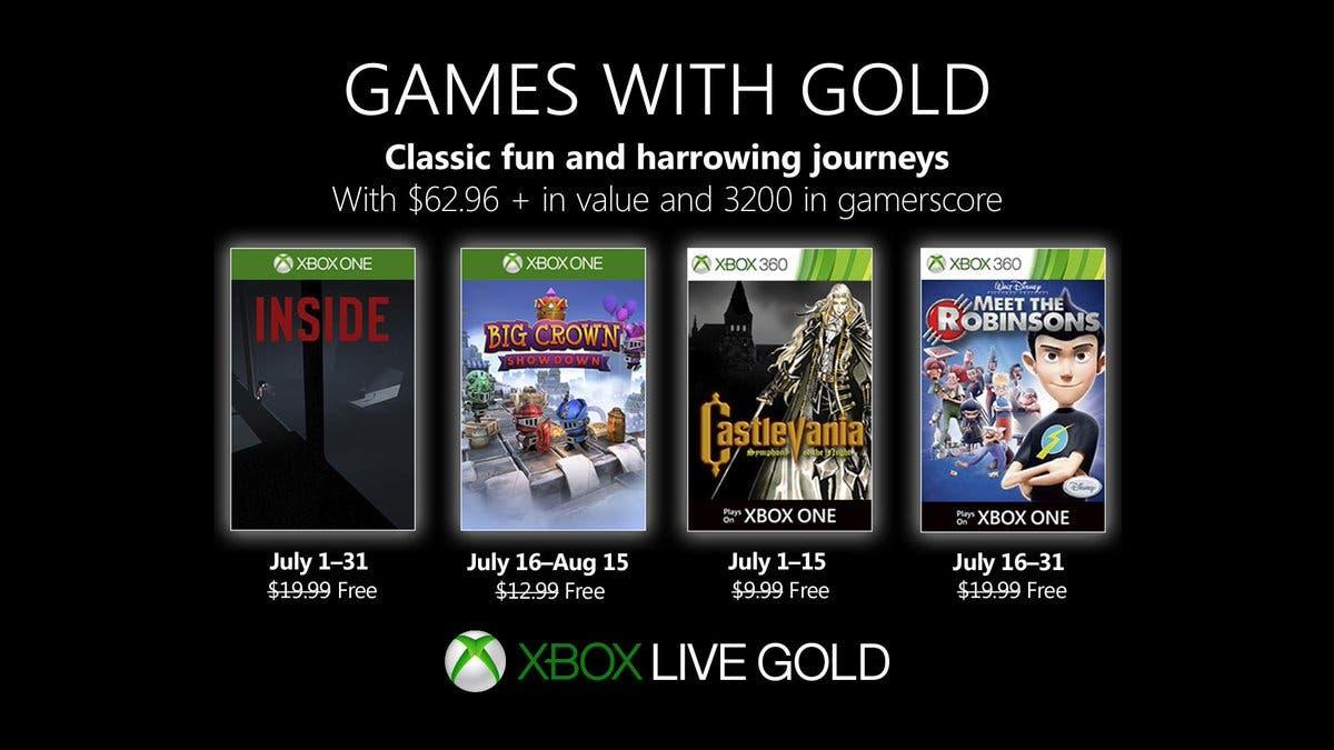 Anunciados los Games with Gold de julio 2019 para Xbox One 2