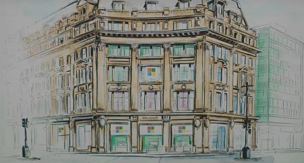 Así será la tienda física de Microsoft Store en Londres, con fecha de inauguración 1