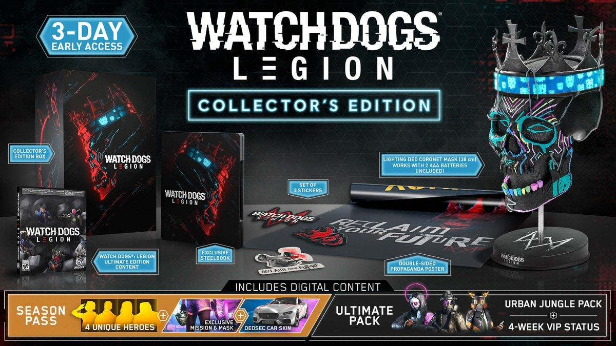 Watch Dogs Legion estará disponible en 4 ediciones 2