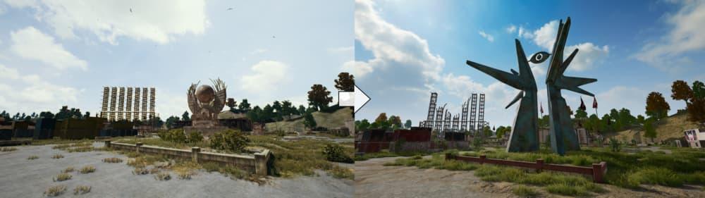 Erangel, el mapa de PUBG, ha recibido grandes cambios en la última actualización 2