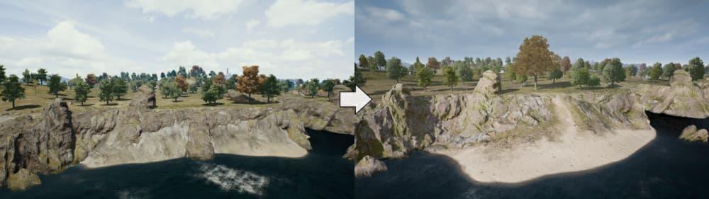 Erangel, el mapa de PUBG, ha recibido grandes cambios en la última actualización 7