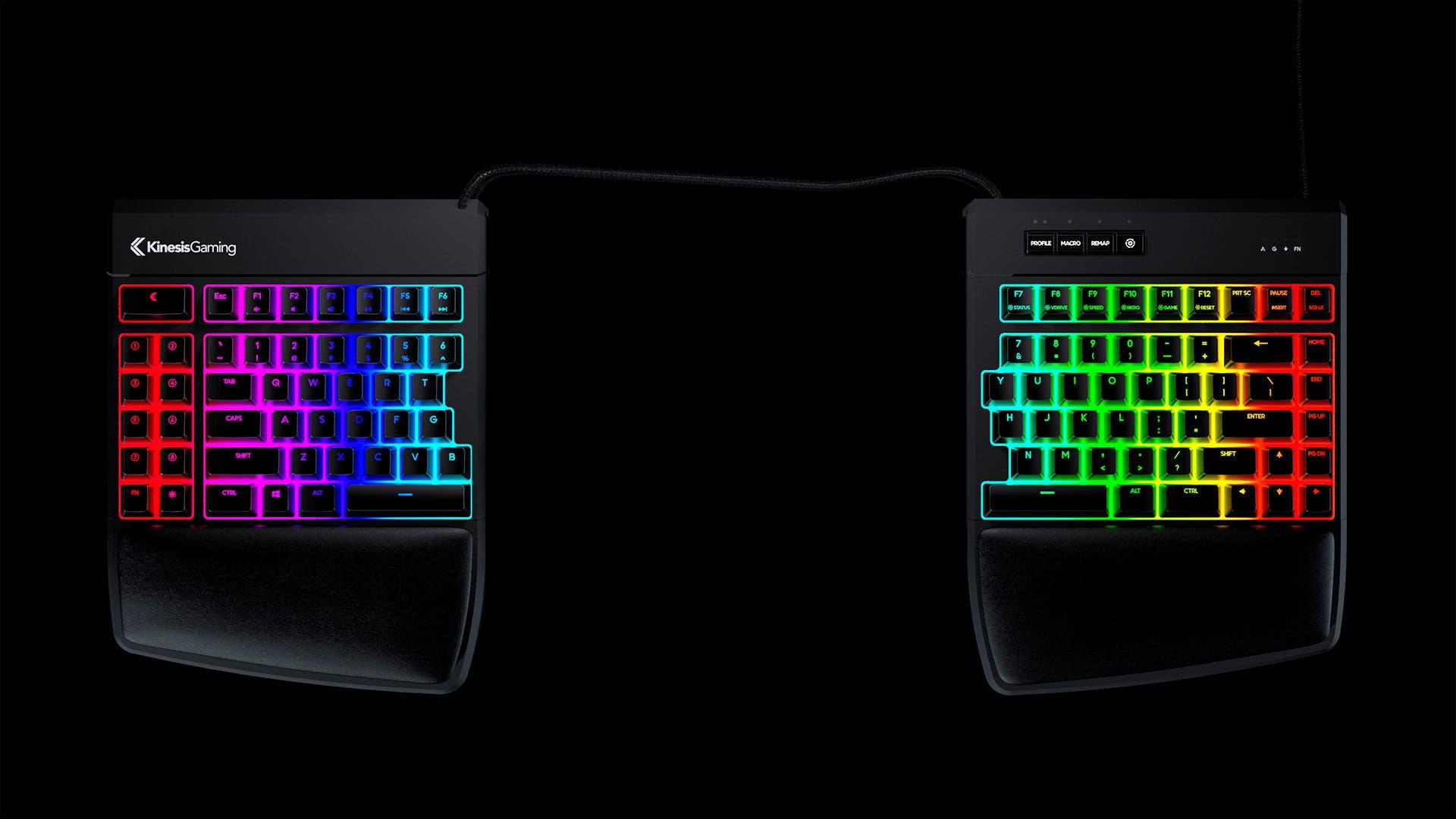 Kinesis Gaming lanza su Freestyle Edge RGB, que aunque no lo parezca, es solo un teclado