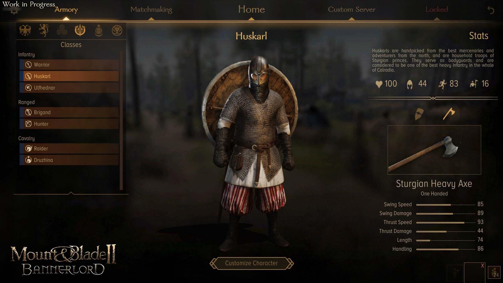 Mount & Blade II: Bannerlord describe sus clases para el modo multijugador