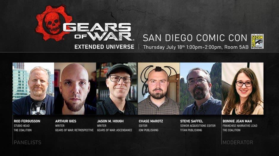La saga Gears of War estará muy presente en la Comic-Con 2
