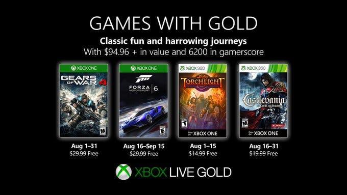 Estos son los Games With Gold de agosto en Xbox One 1