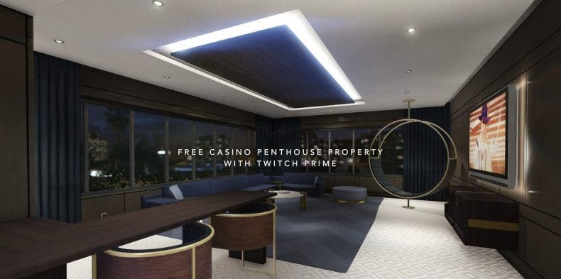 Disfruta de un apartamento en el nuevo casino de GTA Online gracias a tu suscripción Prime 1