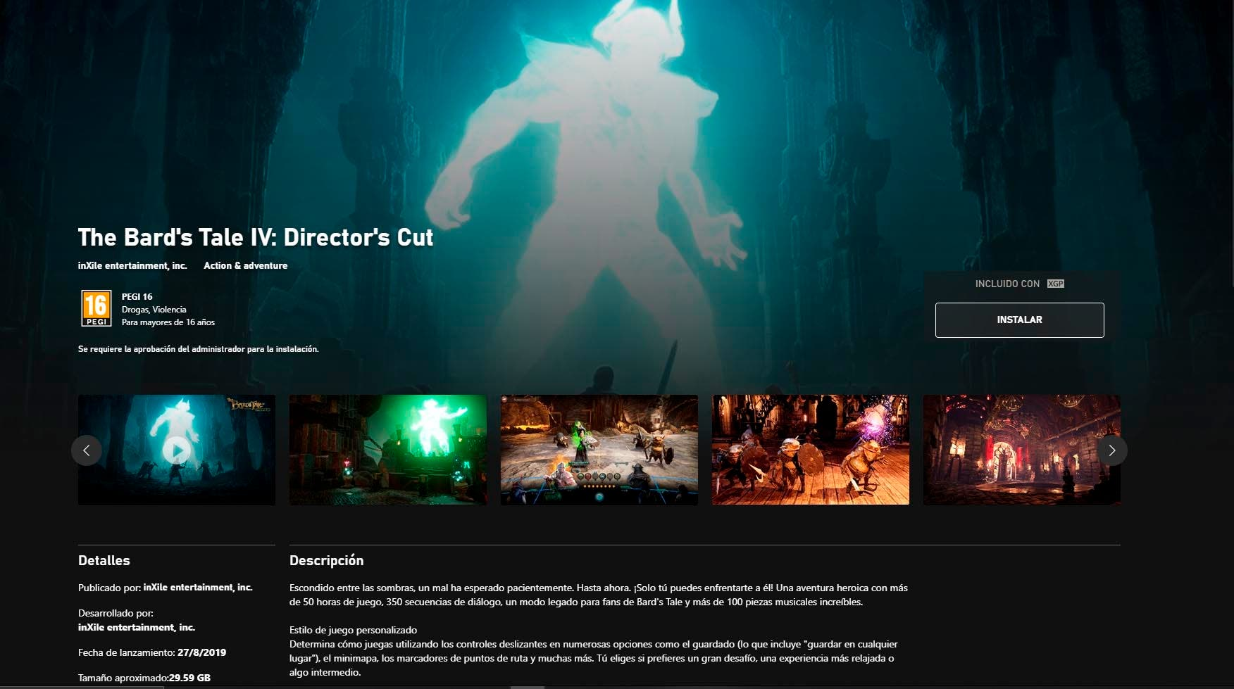 [ACTUALIZADA] The Bard's Tale IV: Director's Cut ya se encuentra disponible en Xbox Game Pass