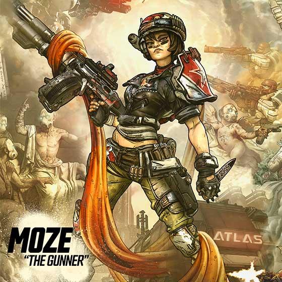 Conoce a la chica guerrera, Moze y su mecha, en el nuevo tráiler de Borderlands 3