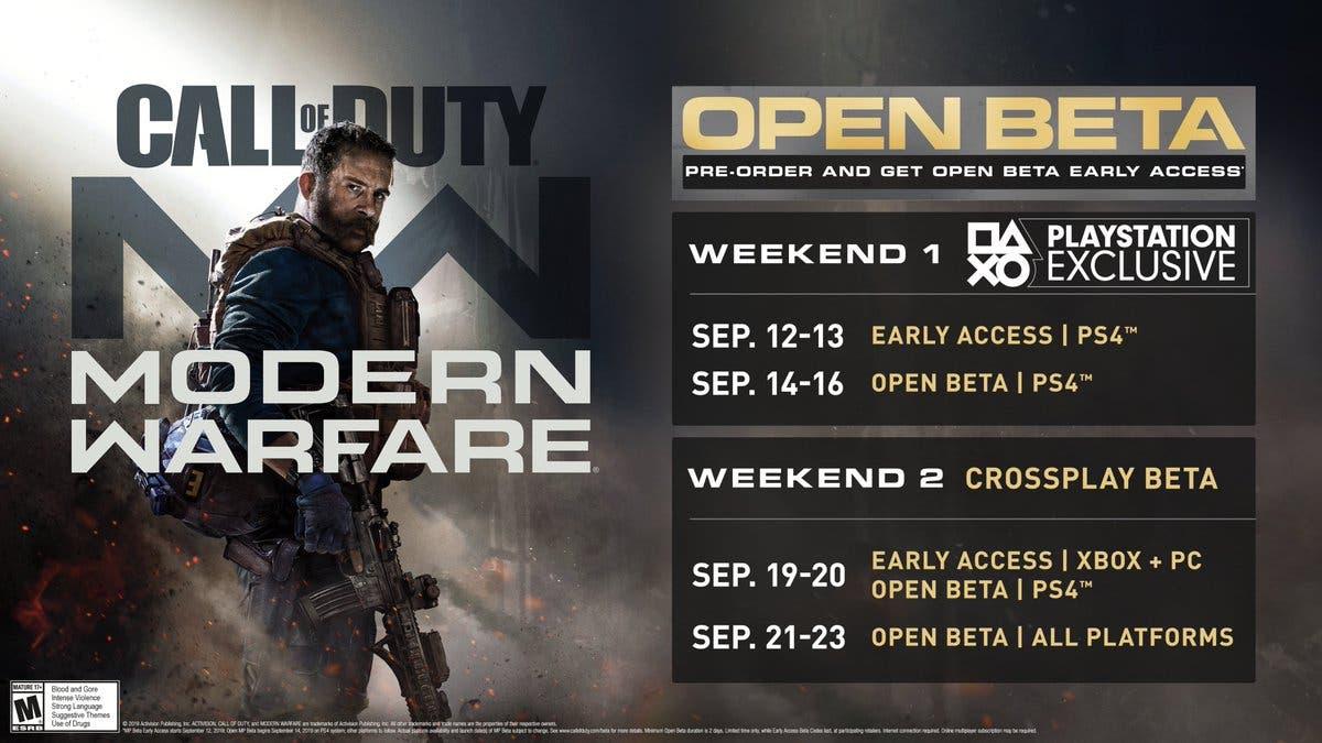 Fecha para la beta de Call of Duty: Modern Warfare en Xbox One 1