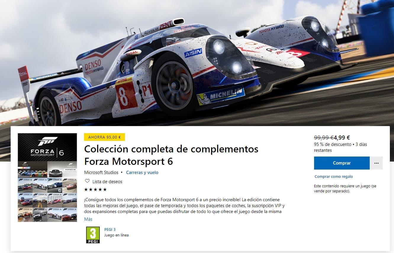 Forza Motorsport 6 abandonará la Xbox Store el 15 de septiembre