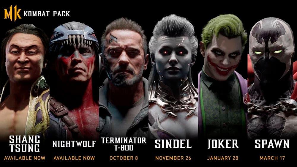 Confirmados todos los luchadores del Kombat Pack de Mortal Kombat 11