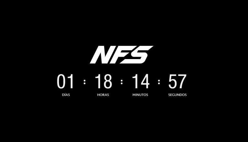 Una web presenta una cuenta atrás para la presentación de Need for Speed