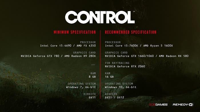 Remedy recula y rebaja los requisitos de Control para PC