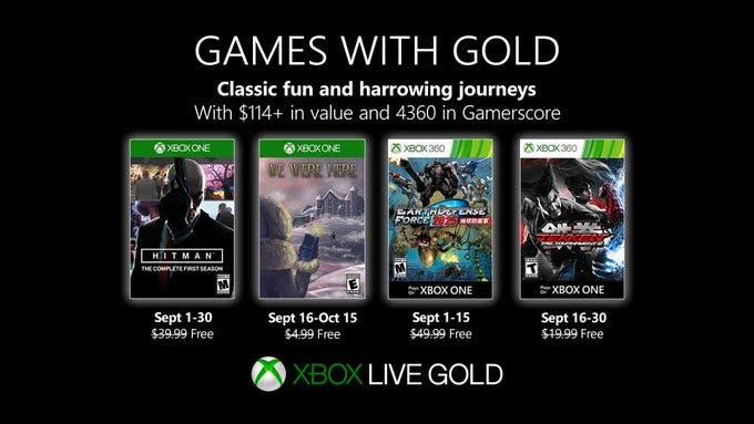 Games with Gold de septiembre de 2019 para Xbox One