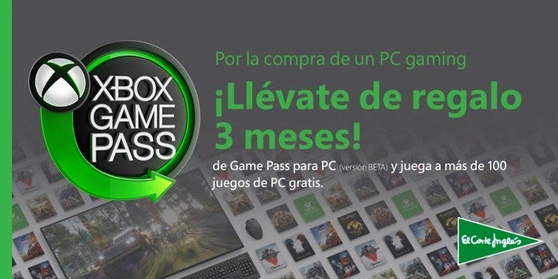 Compra un PC Gaming en El Corte Inglés y consigue 3 meses gratis de Xbox Game Pass 1