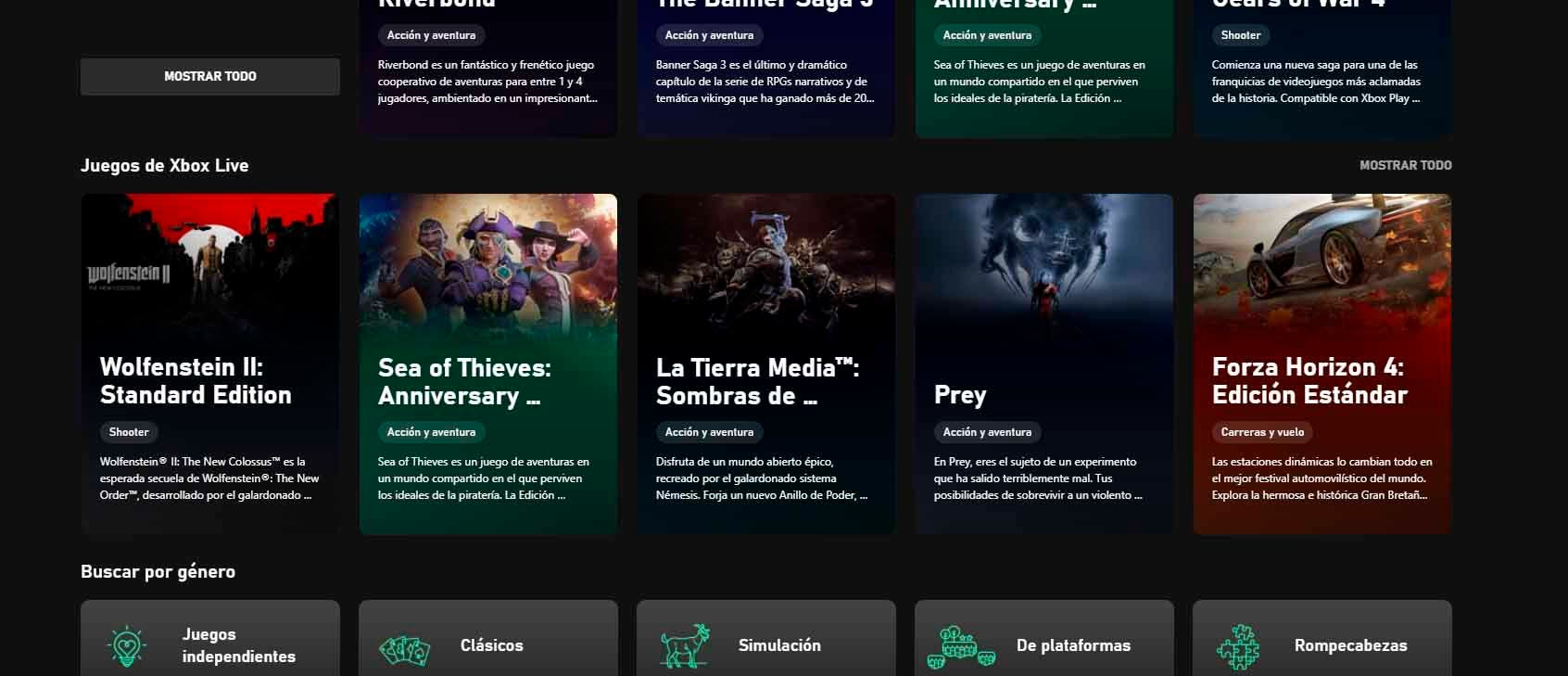 La aplicación de Xbox Game Pass de PC se actualiza para mostrar los juegos de Xbox Live