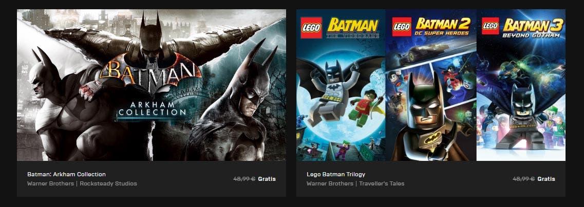 Dos trilogías de Batman gratis en la Epic Store esta semana