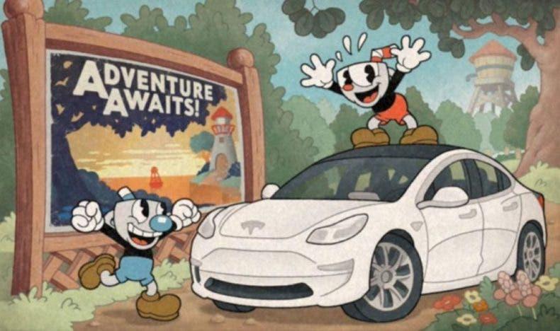 Si tienes un Tesla, ahora puedes jugar a Cuphead en el coche 1
