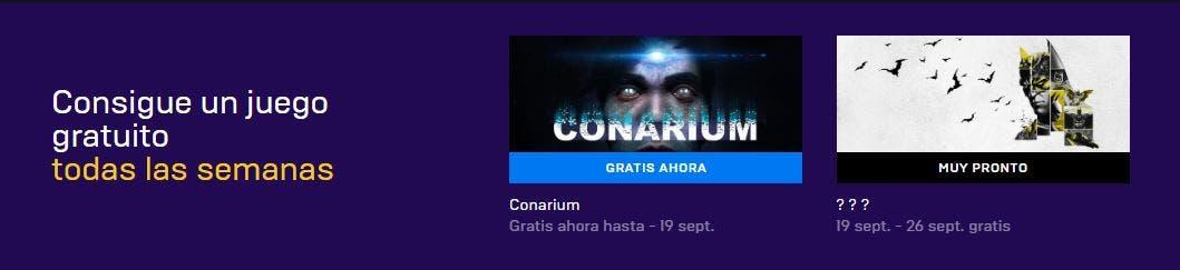 Consigue gratis Conarium en la Epic Store, el próximo juego gratuito será un juego de Batman