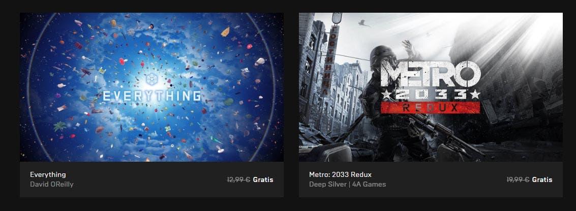 Metro 2033 Redux y Everything ya están disponibles gratis en la Epic Store