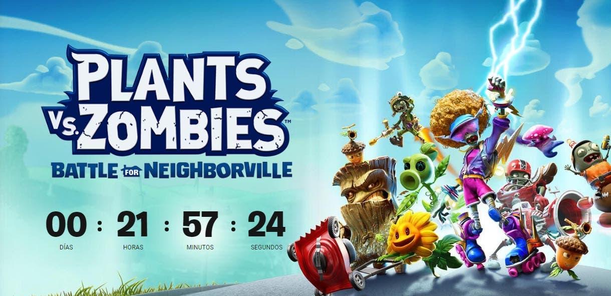Plants vs. Zombies: Battle for Neighborville será desvelado mañana
