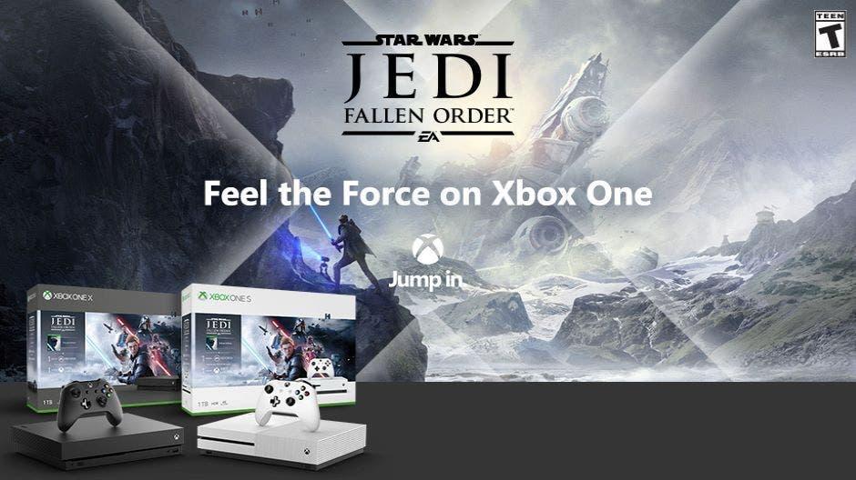 Anunciados dos packs de Xbox One X y Xbox One S con Star Wars Jedi: Fallen Order 2