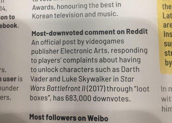 Star Wars Battlefront II gana el récord Guinness de la polémica 2