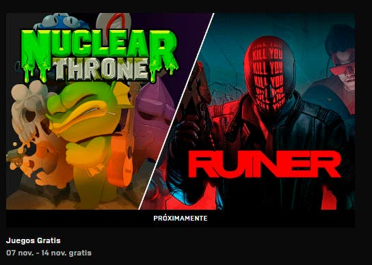 Nuclear Throne y Ruiner disponibles gratis en la Epic Store, la semana que viene The Messenger