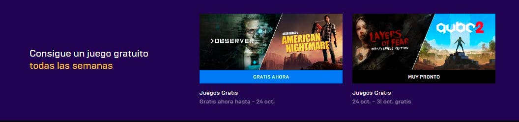 Disponibles Observer y Alan Wake's American Nightmare gratis en la Epic Store