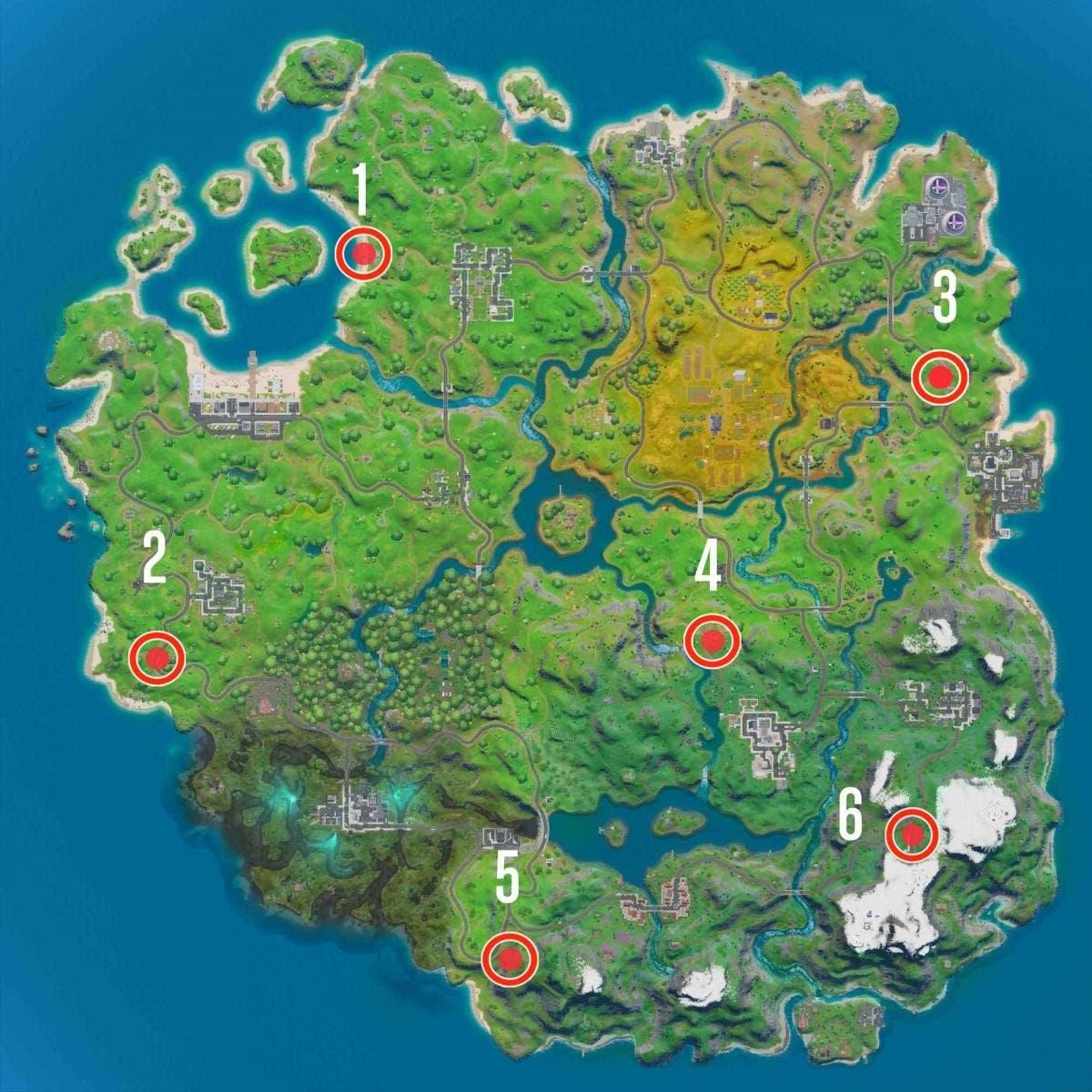 Cómo completar los desafíos 'Forjado en Sorbete' en Fortnite 3