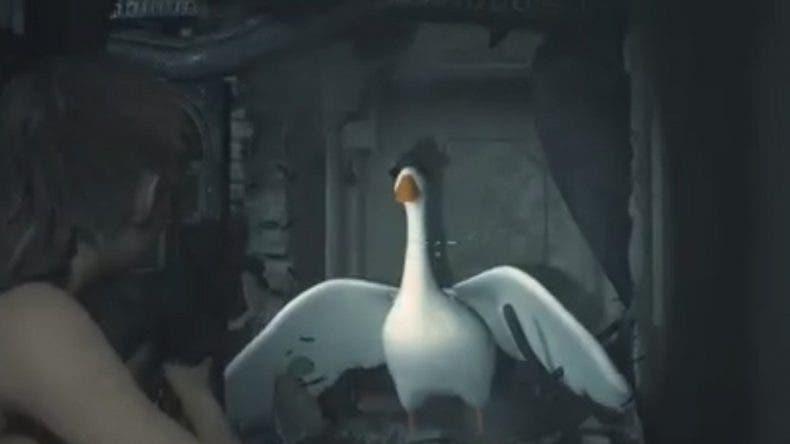 El ganso de Untitled Goose Game se cuela en Resident Evil 2 gracias a un mod 1