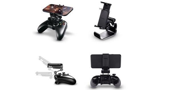 Así es el soporte MOGA Mobile Gaming Clip para el mando de Xbox One 1