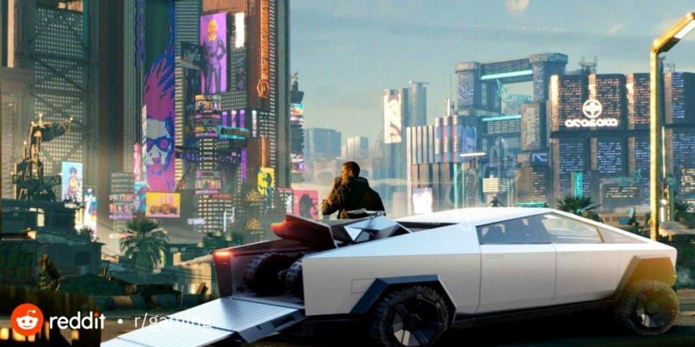 El Cybertruck de Elon Musk podría llegar a Cyberpunk 2077 2