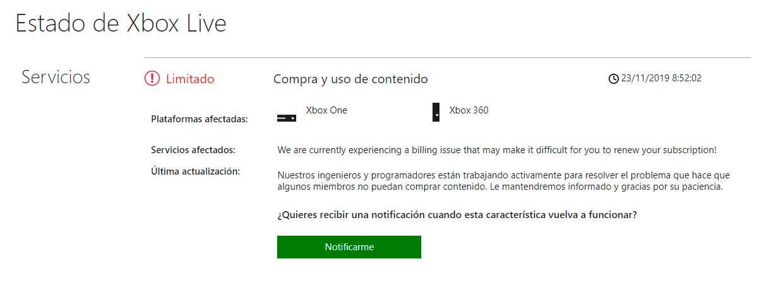 Los problemas en la tienda de Xbox dificultan aprovechar las ofertas del Black Friday