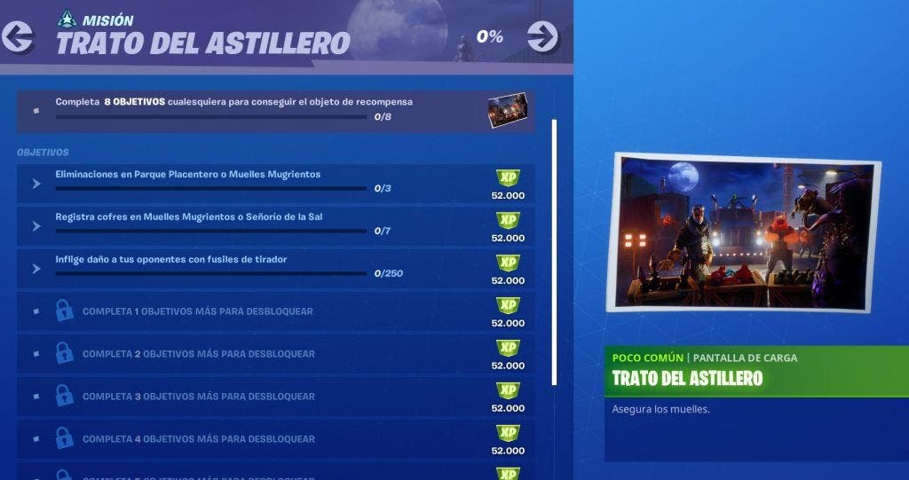 Cómo completar los desafíos de la semana 4 Trato del Astillero en Fortnite 2