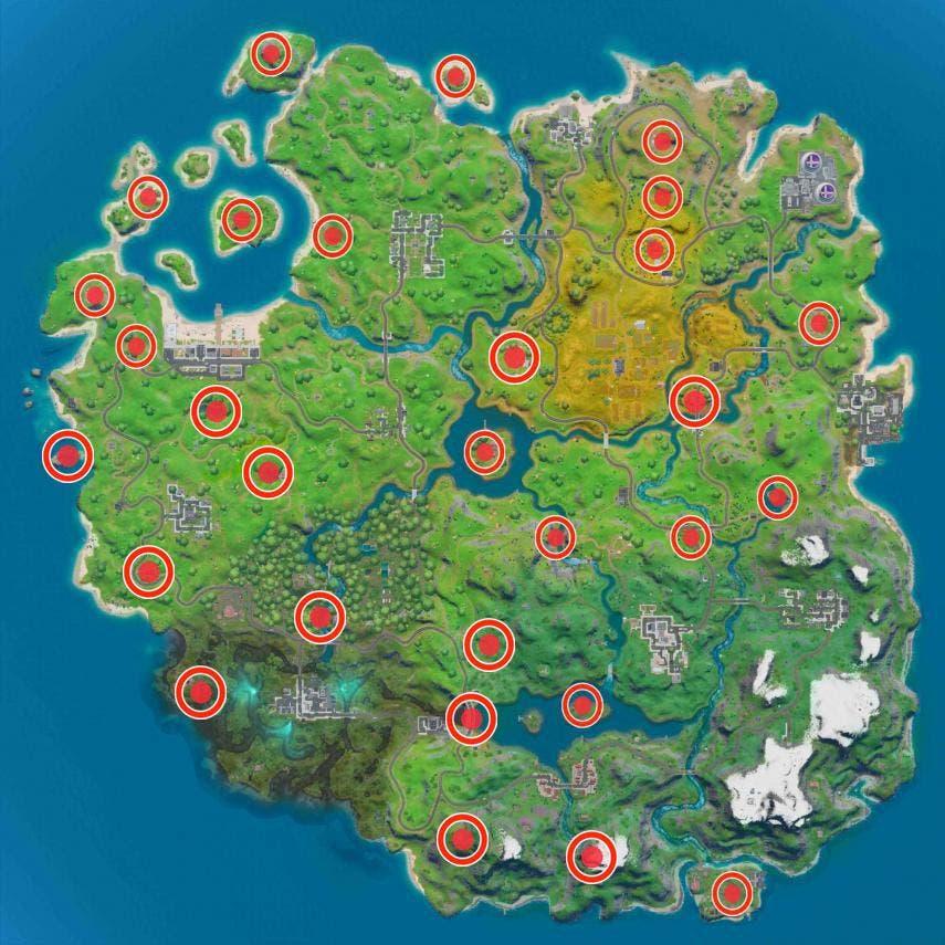 Cómo completar los desafíos Tiro con Truco de la semana 7 en Fortnite 3