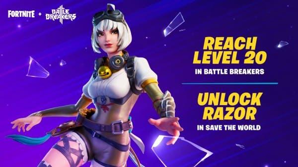 Cómo conseguir la skin gratuita Razor de Battle Breakers en Fortnite 2
